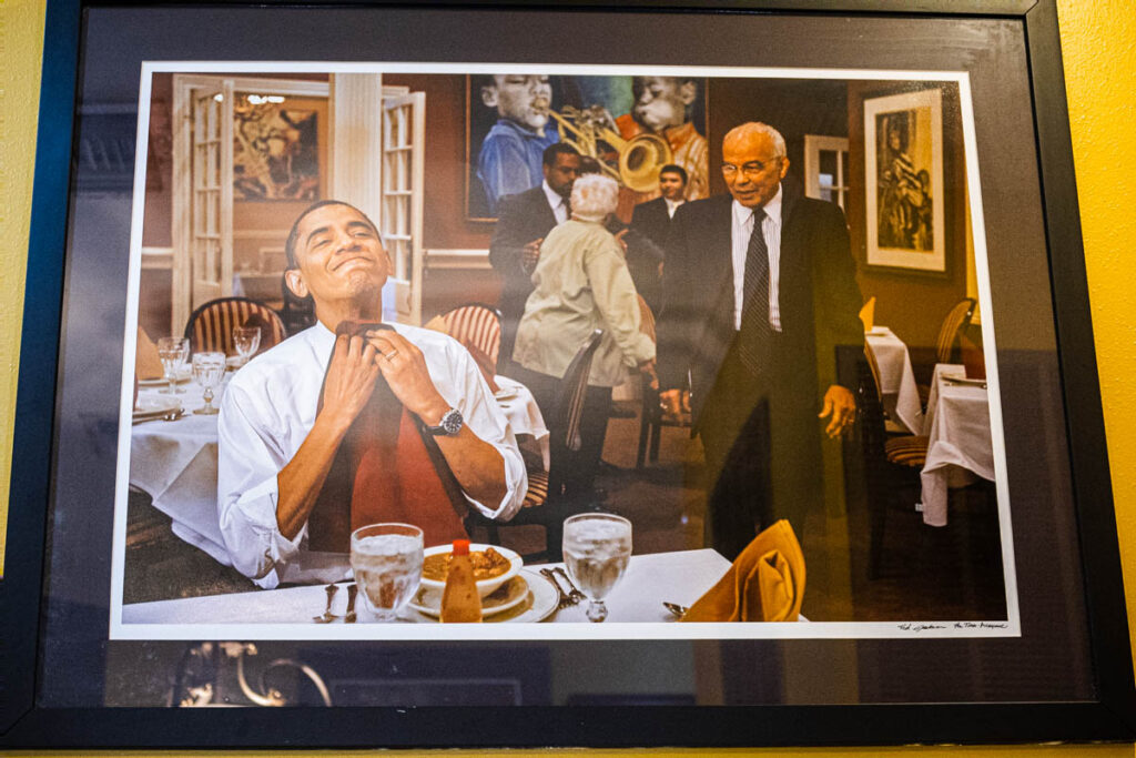 Obama Photo at Dooky Chases in New Orleans
