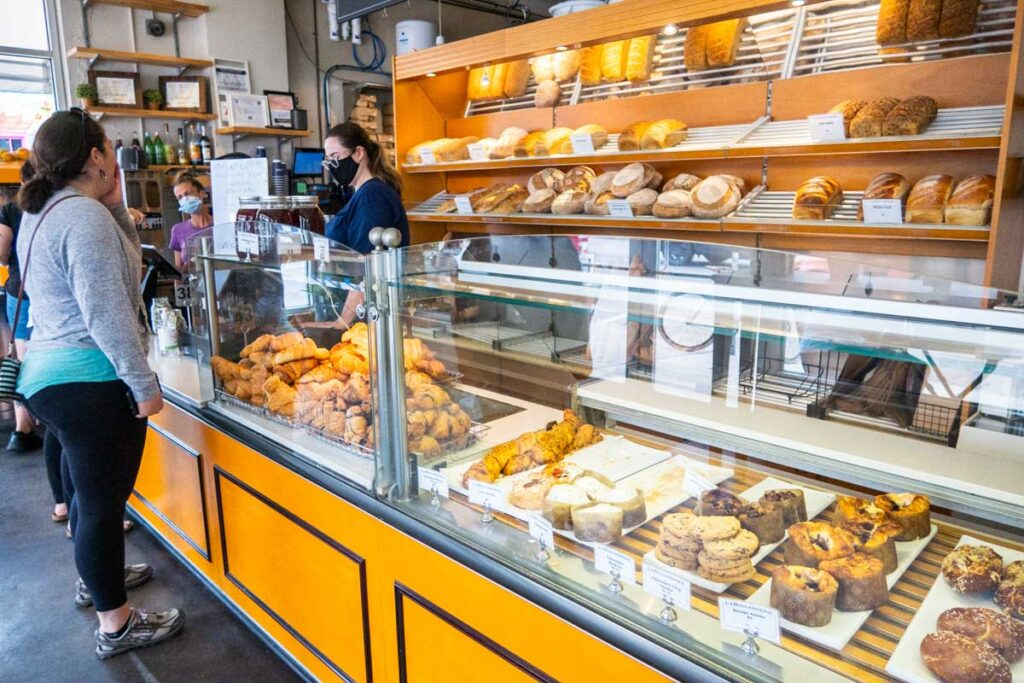 Pastry Counter at La Boulangerie in New Orleans
