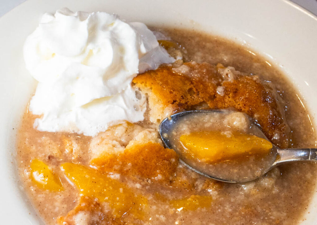 Peach Cobbler at Dooky Chases in New Orleans