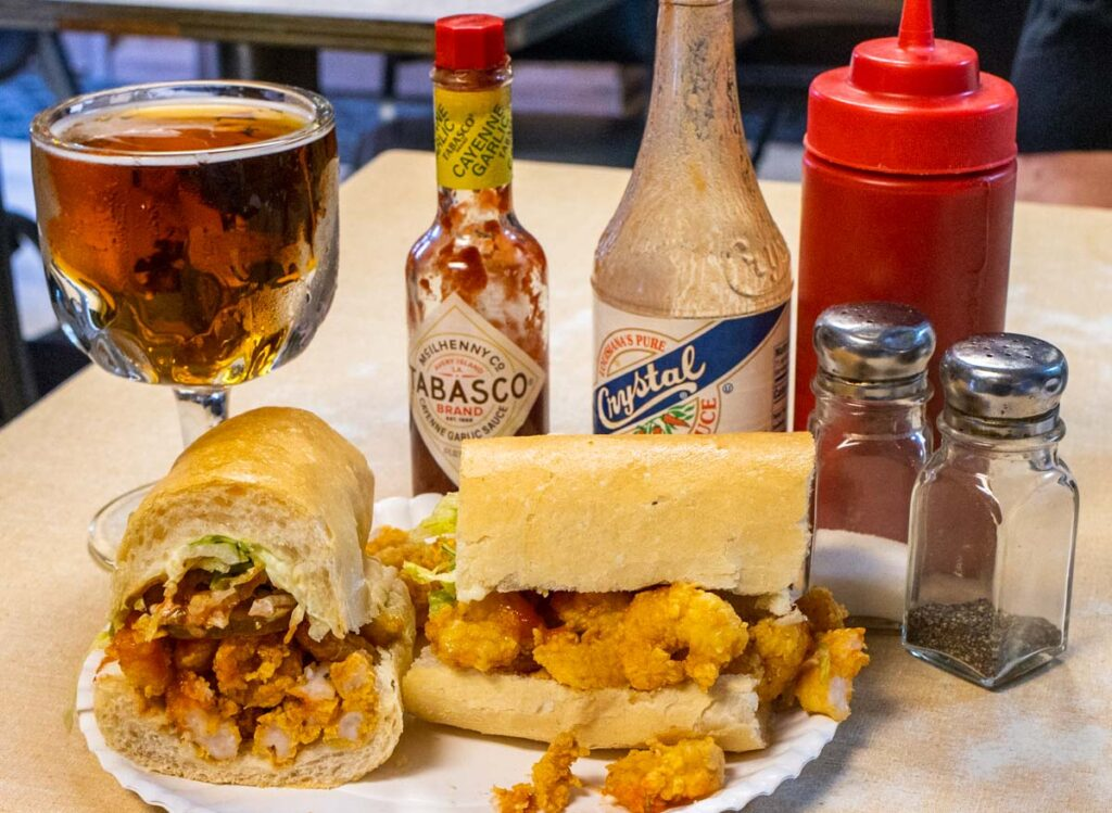 Po Boy Lunch at Domelises in New Orleans