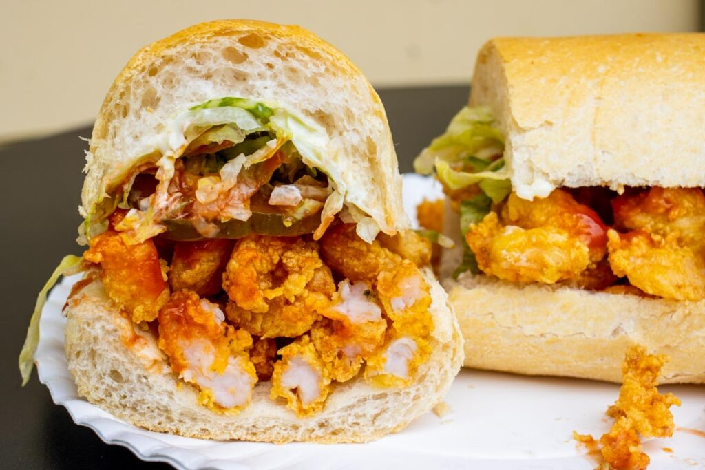 Po Boy at Domelises in New Orleans