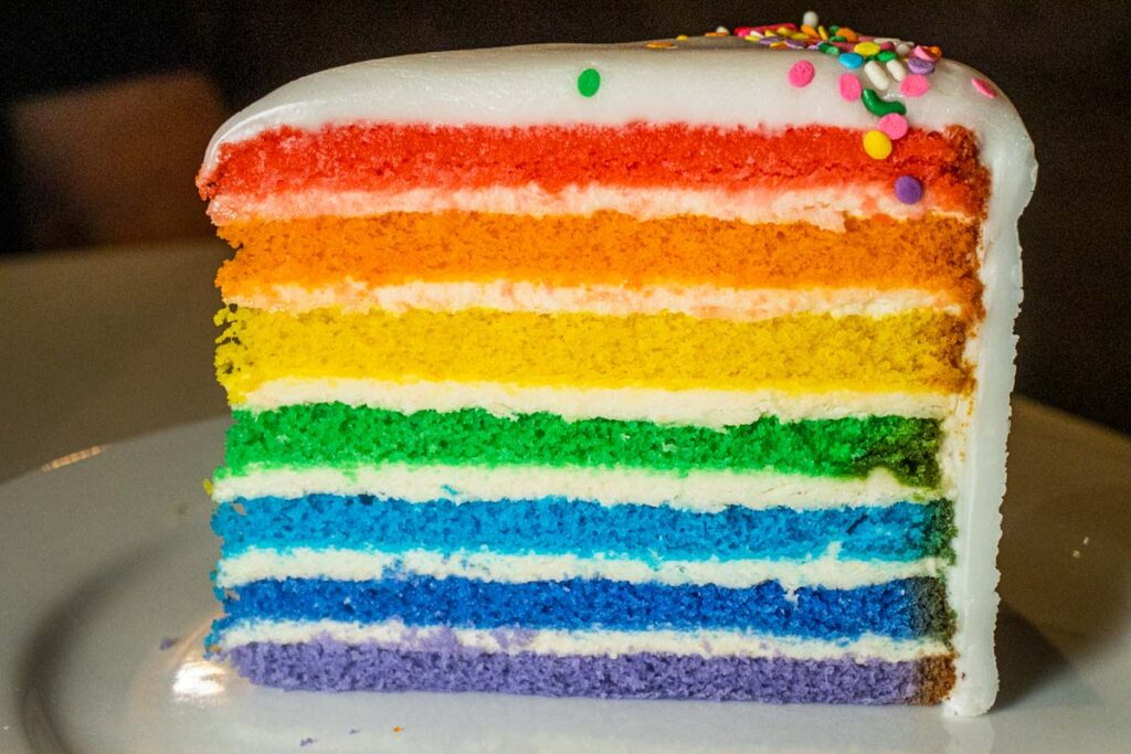 Rainbow Cake at Bakery Bar in New Orleans