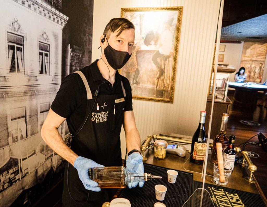 Sazerac House Bartender in New Orleans
