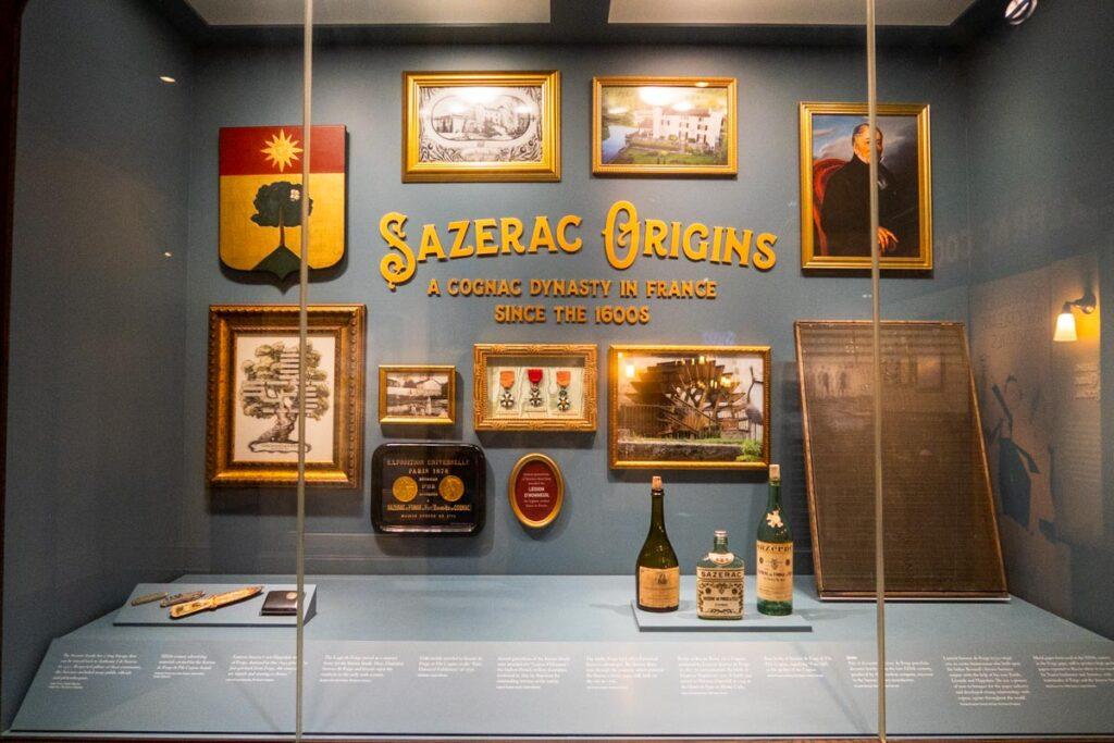 Sazerac House Memorabilia in New Orleans