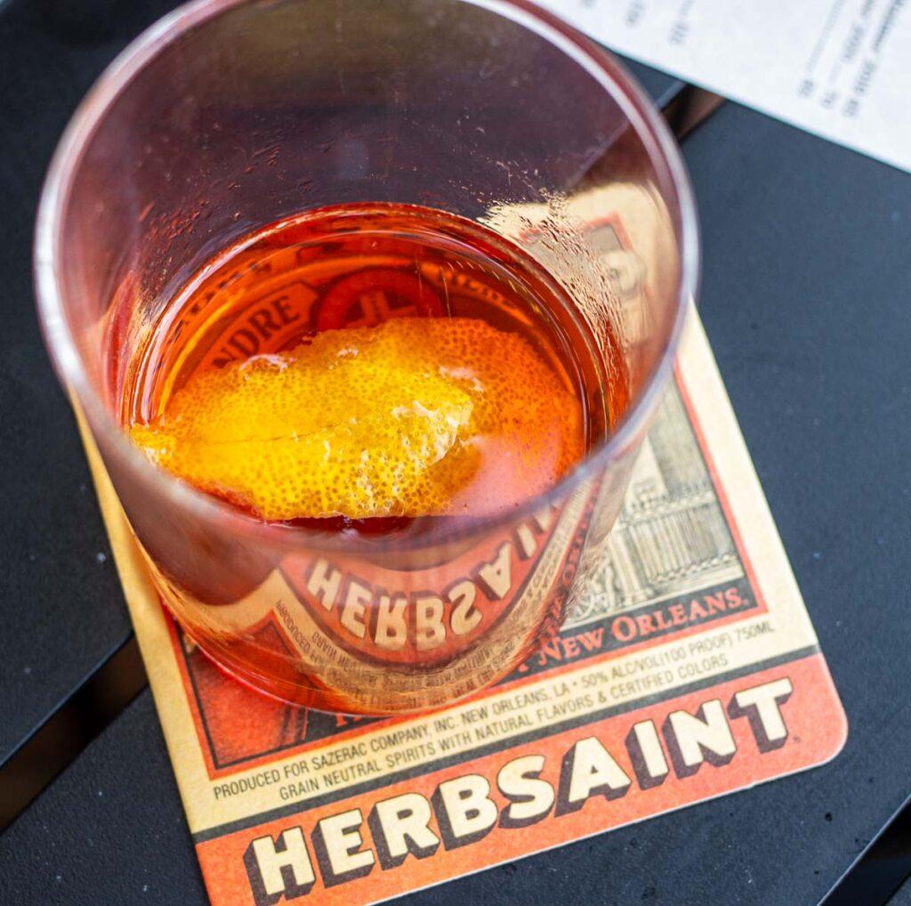 Sazerac at Herbsaint in New Orleans