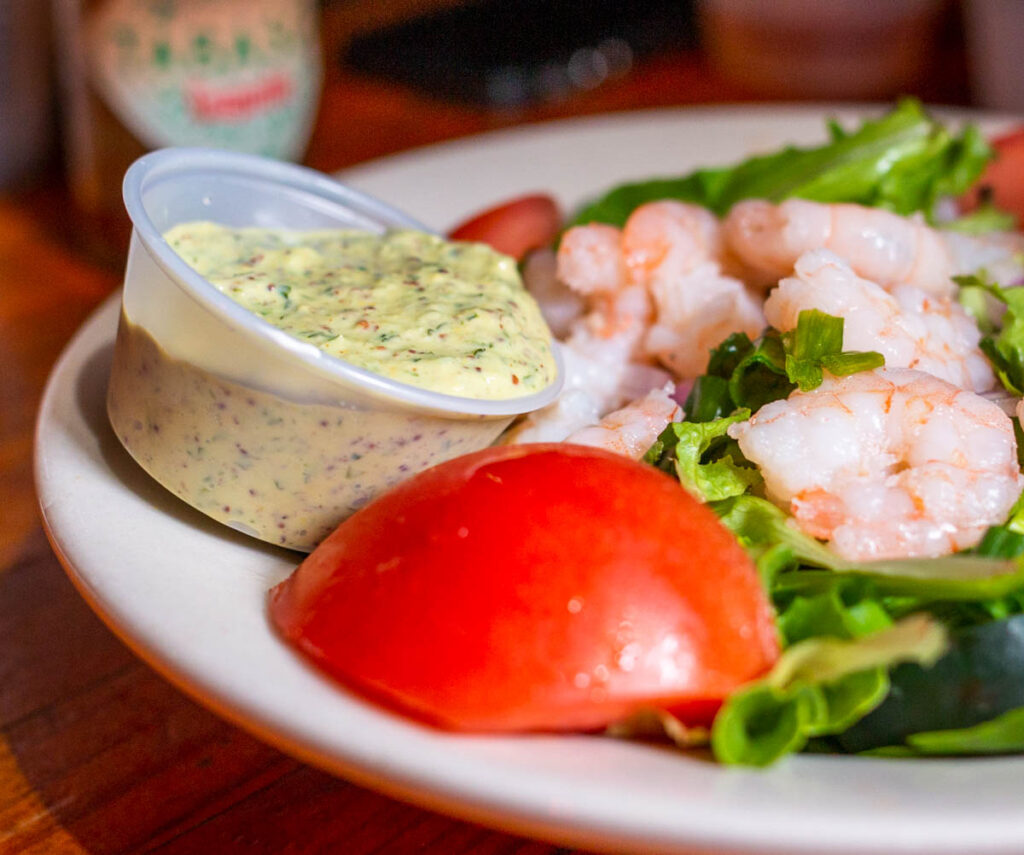 Shrimp Remoulade Salad at Coops Place in New Orleans