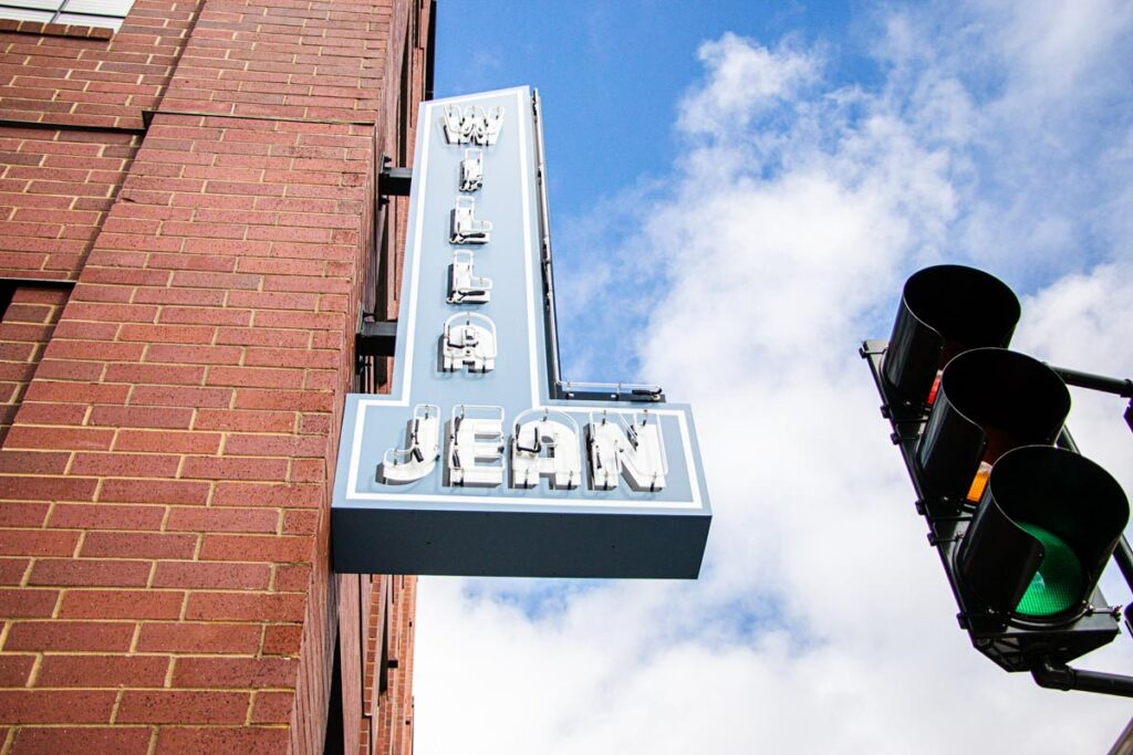 Willa Jean Sign in New Orleans