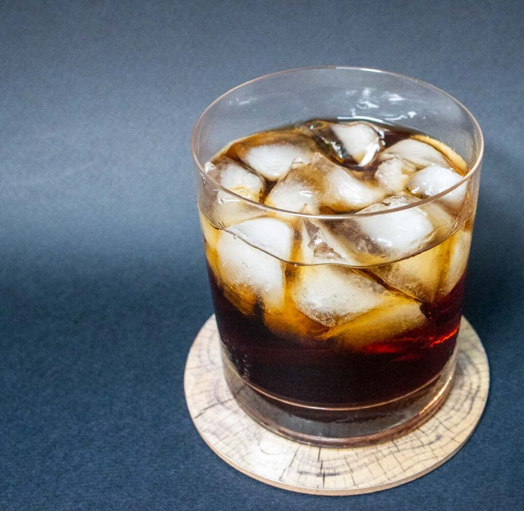 Black Russian with Black Background
