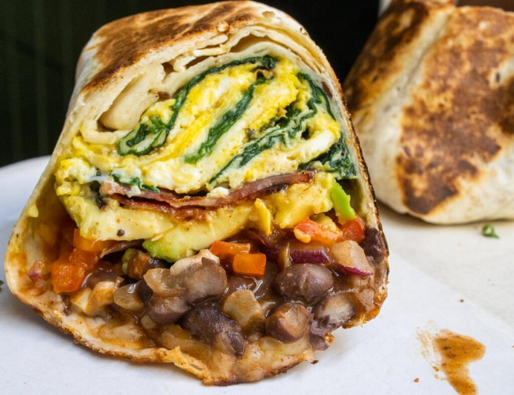 Breakfast Burrito at Cotidiano in Lisbon