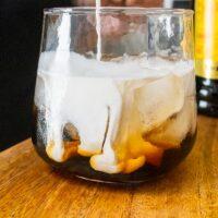 Cream in a White Russian Glass