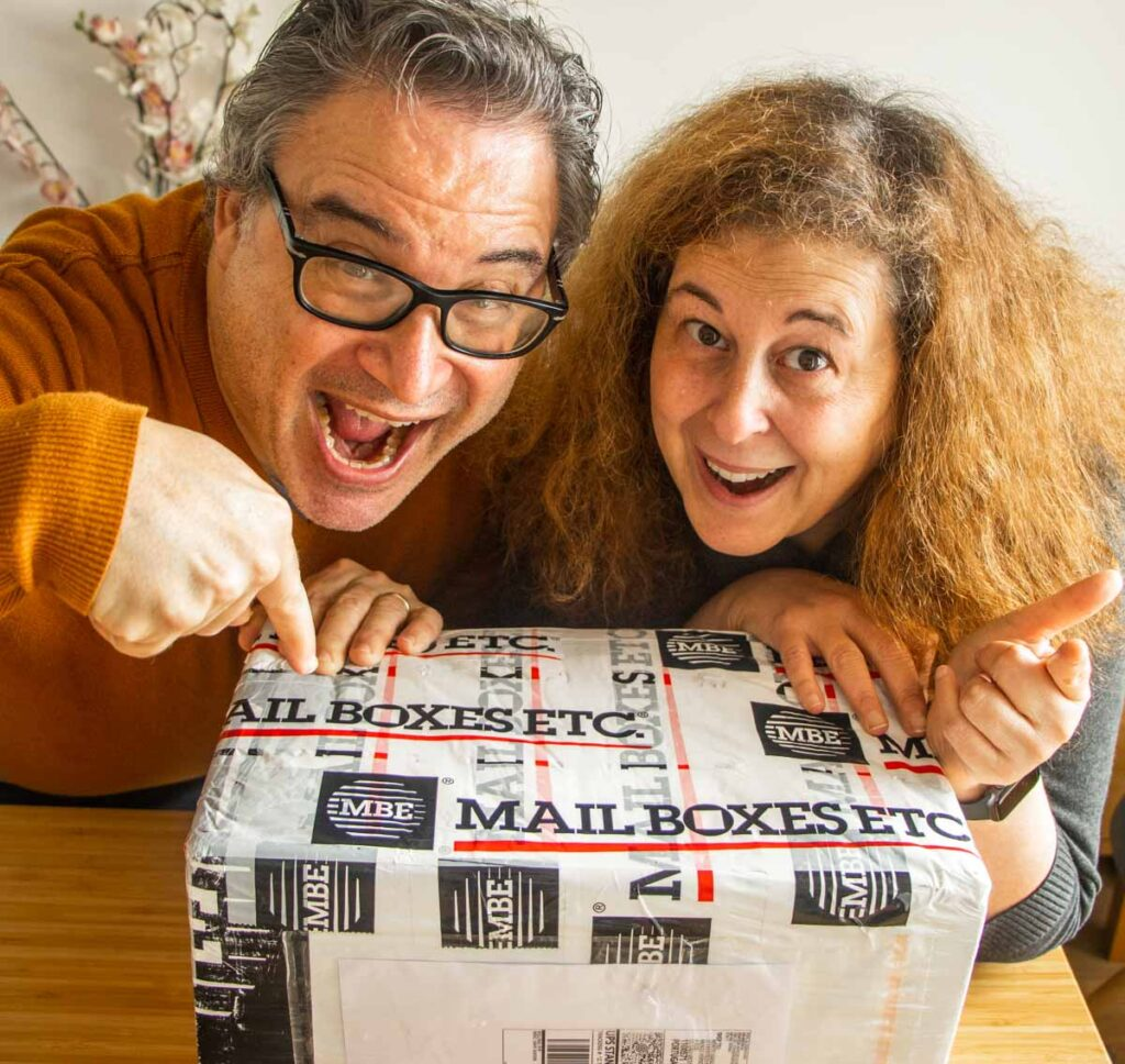 Daryl and Mindi open a Package