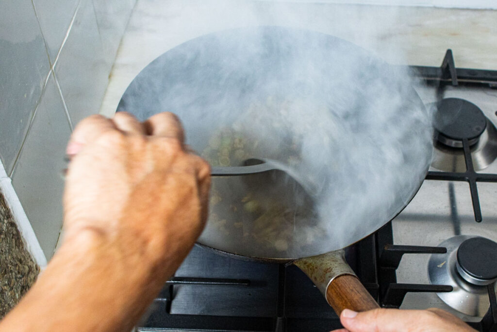Deglazing the Wok with Xiaoxing Wine