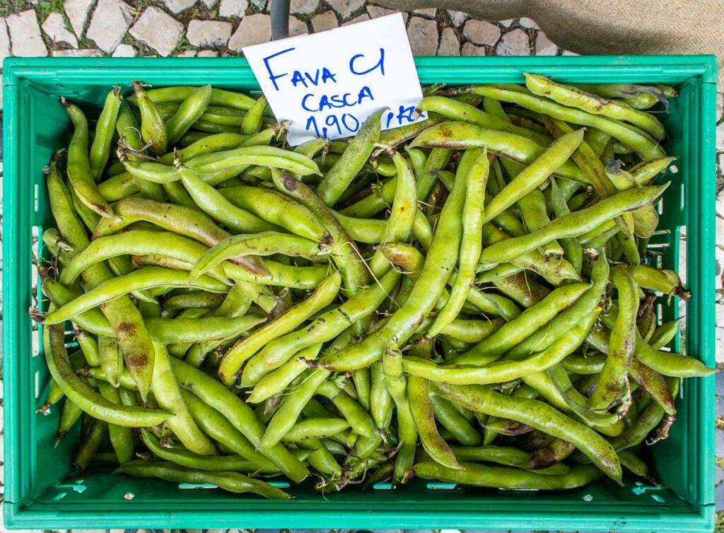 Fava Beans at Mercado Sao Paulo in Lisbon