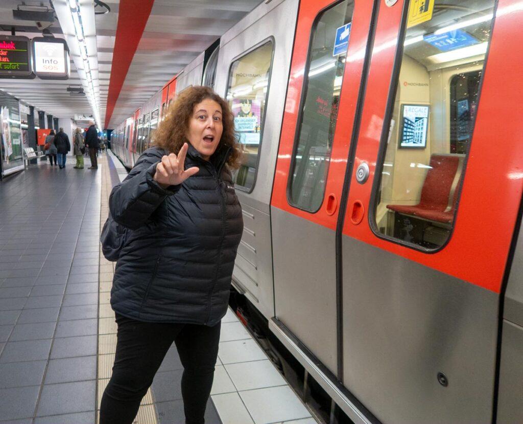 Hamburg Train Selfie