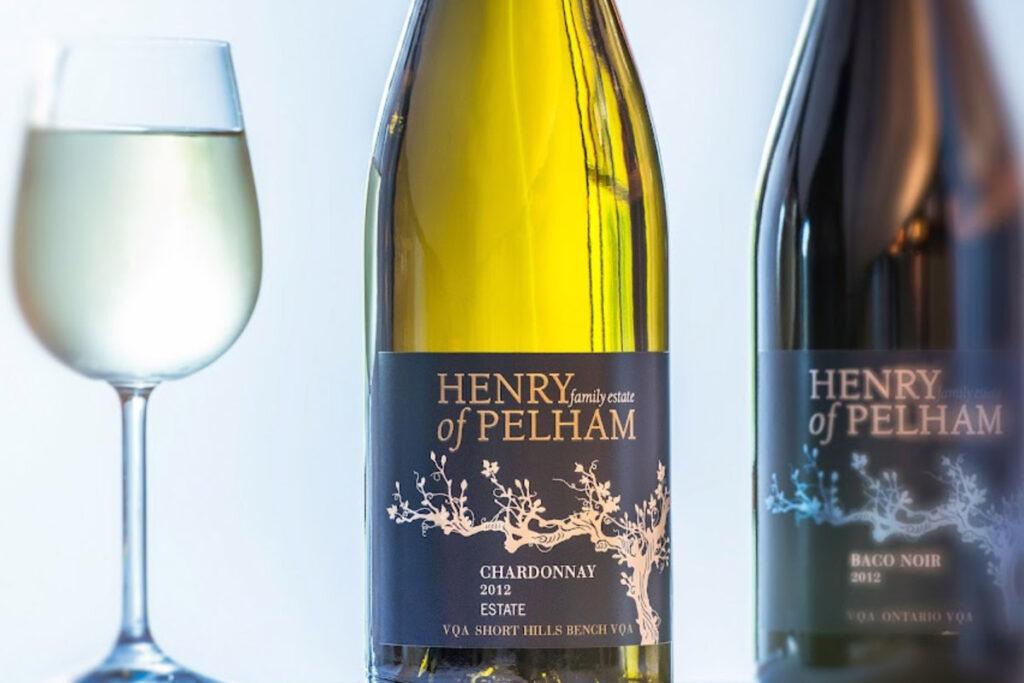 Henry of Pelham Wine Bottles Stock Photo