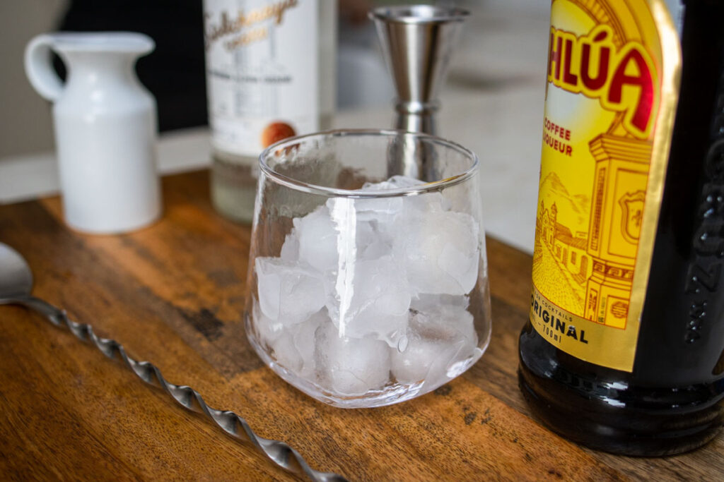 Ice Cubes in a Rocks Glass