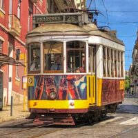 Iconic 28 Tram in Lisbon
