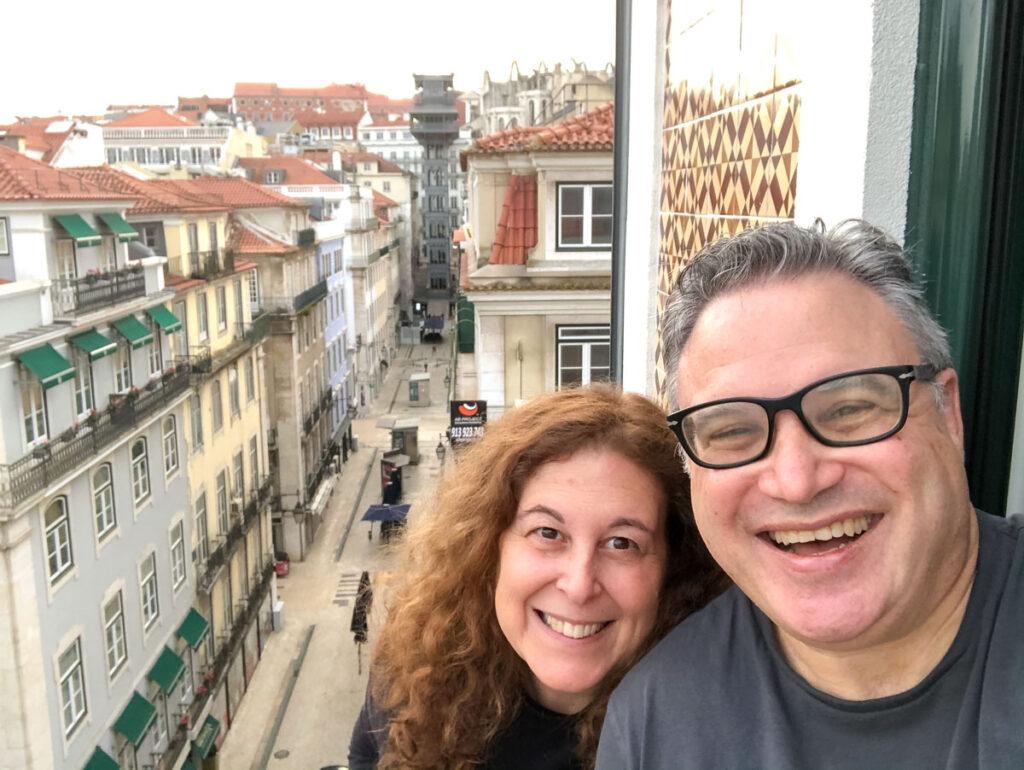 Lisbon Balcony Selfie