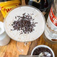 Mudslide Cocktail with Ingredients