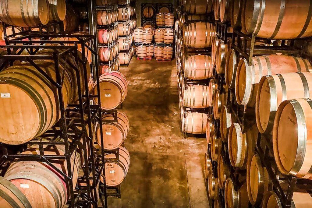 Ontario Wine Bottles Stock Photo