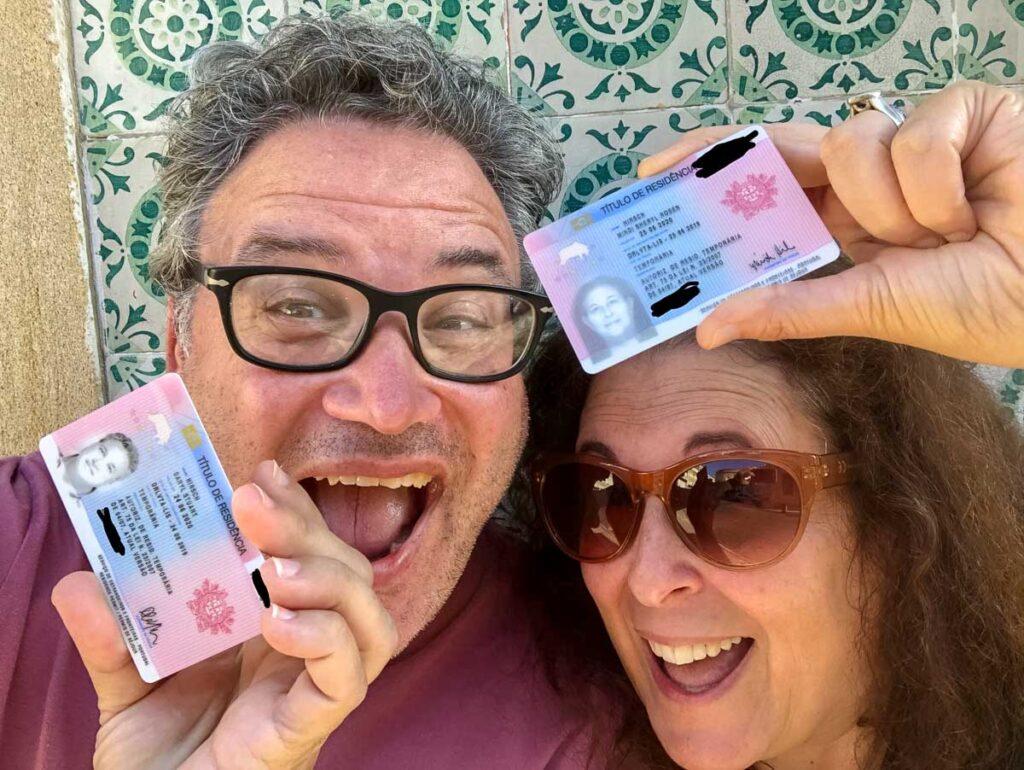 Portugal Residency Card Selfie