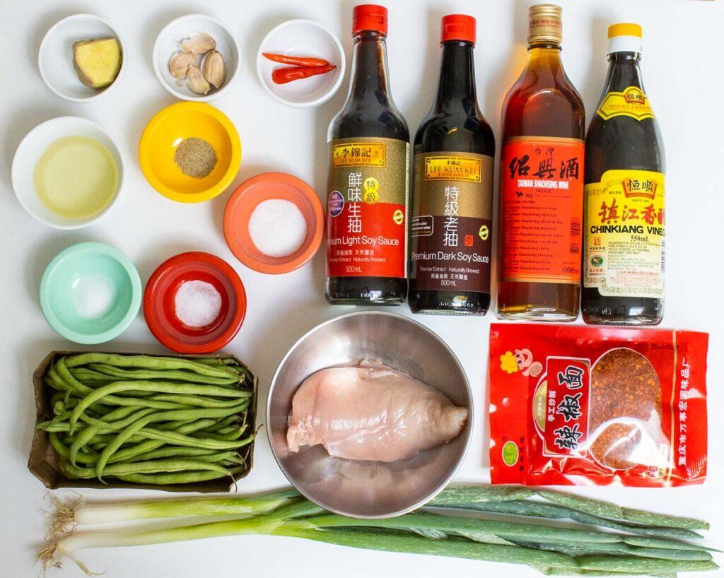 Raw Ingredients for Hunan Chicken