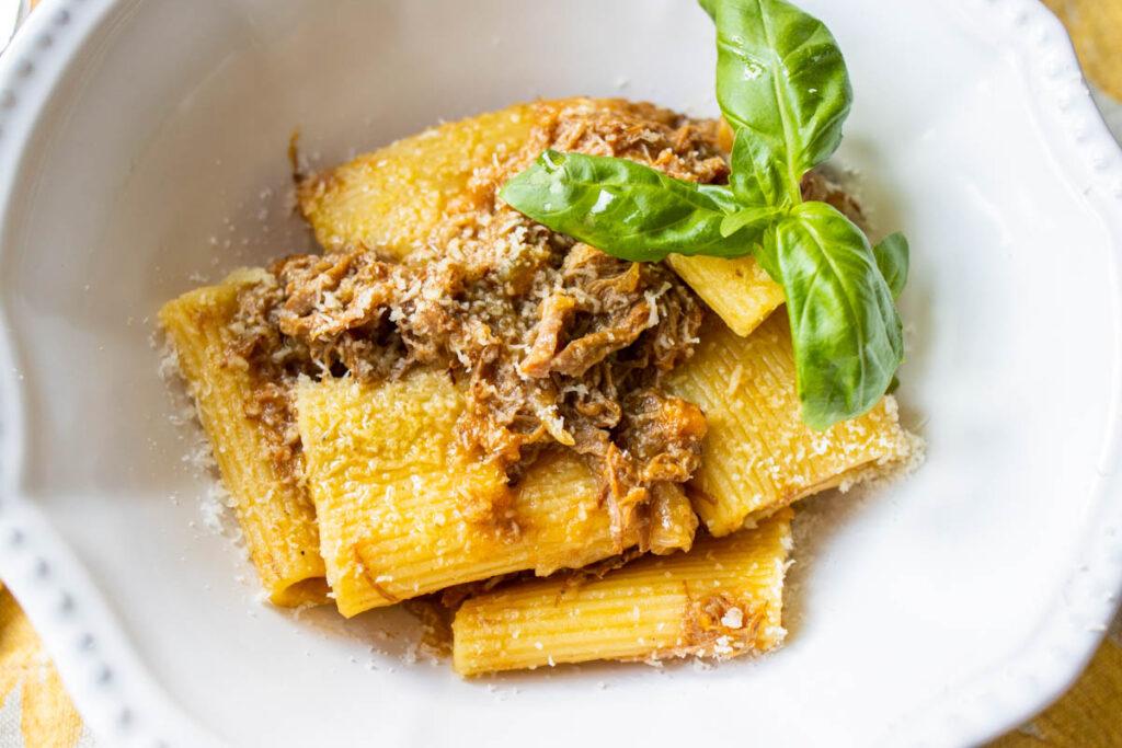 Pasta alla Genovese CU with Basil