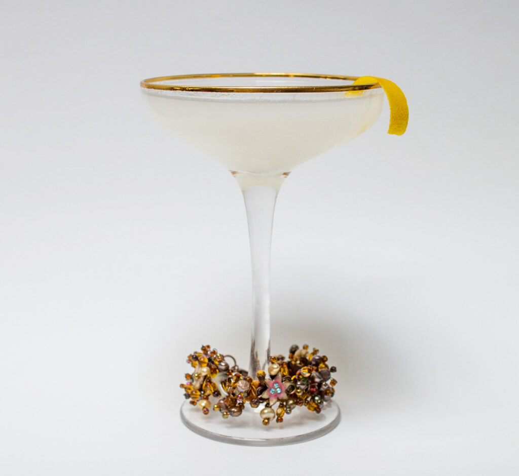 White Lady Cocktail with Bracelet