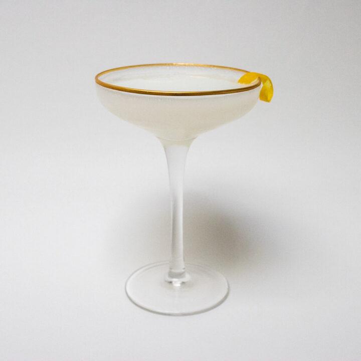 White Lady Cocktail with Lemon Twist